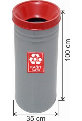 Avrupa Tedarik Geri Dönüşüm Çöp Kovası Boyalı 35*100 Kırmızı