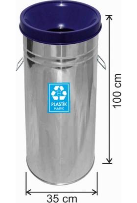 Avrupa Tedarik Geri Dönüşüm Çöp Kovası Paslanmaz 35*100 Mavi