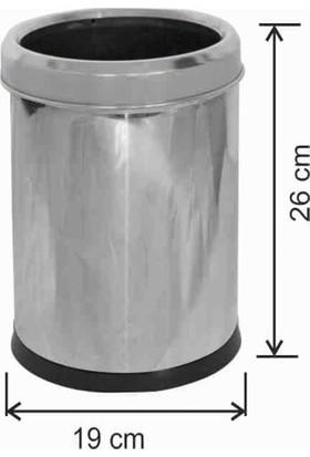Avrupa Tedarik Ofis Tipi 5 Litre Çöp Kovası Paslanmaz Çemberli