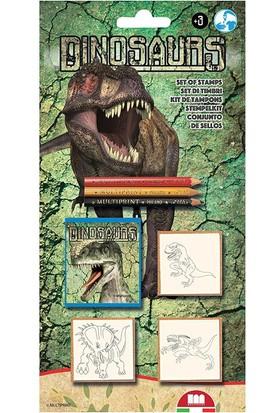 Multi Print Dinozorlar Damga / 3'lü set