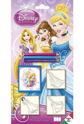 Multi Print Disney Prensesler Damga / 3'lü set
