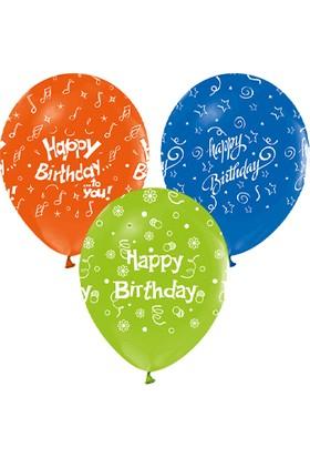 Wildlebend Happy Birthday Baskılı Balon 10 Adet