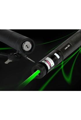 Wildlebend Yeşil Şarjlı Lazer Pointer 1000 (Yakıcı) + YEDEK PİL HEDIYELI