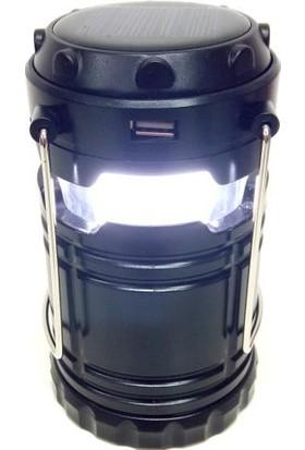 Yopigo Turbo-XL Kamp Feneri Şarj Edilebilir Usb li ve Güneş Enerjili Işıldak