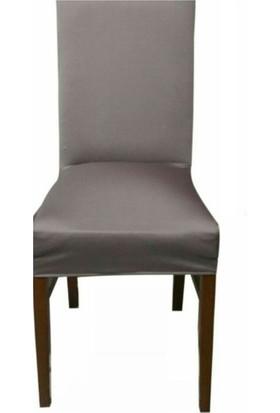 Sandalye Kılıfı - Dalgıç Kumaş - Likralı - Vizon 6 Adet