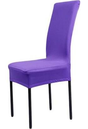 Sandalye Kılıfı - Dalgıç Kumaş - Likralı - Mor