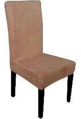 Sandalye Kılıfı - Dalgıç Kumaş - Likralı - Koyu Hardal 6 Adet