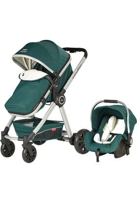 Baby2Go 6033 Power Plus Travel Sistem Bebek Arabası Yeşil