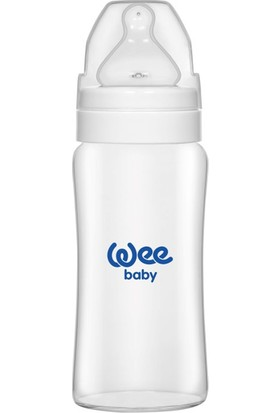 Wee Baby Geniş Ağızlı Isıya Dayanıklı Cam Biberon 250ml Beyaz