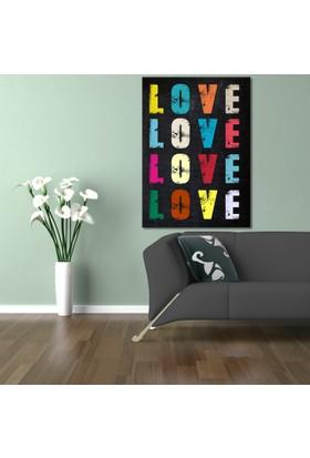 Hepsiburada Home Renkli Love Kanvas Tablo