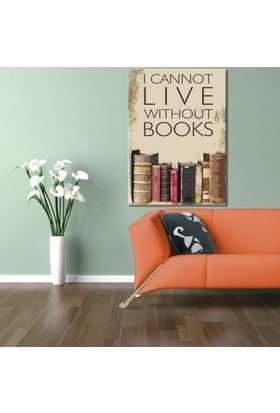 Evmanya Deco Lıve Books Kanvas Tablo