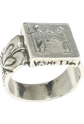 Nusret Takı 925 Ayar Gümüş Mısır Hiyeroglif Yüzük