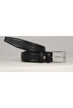 Süzer Suni Deri 35 Cm.Lik Klasik Kemer - Siyah -8000-04
