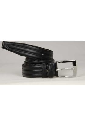 Süzer Suni Deri 35 Cm.Lik Klasik Kemer - Siyah -8000-52