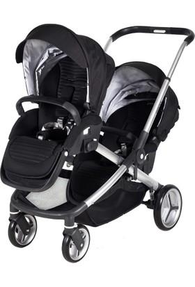 Prego İbiza İkiz Bebek Arabası Siyah
