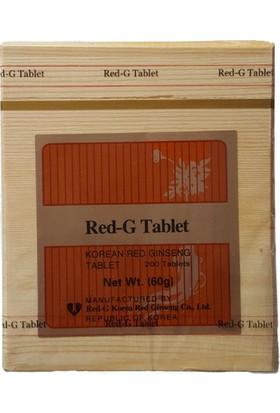 Red ginseng Tahta Kutu Kore Kırmızı Ginseng (200 Adet)