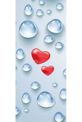 Kalp Damlası Buzdolabı Sticker