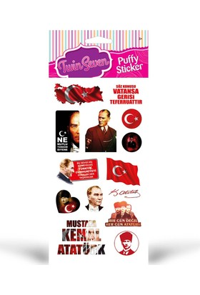 Atatürk Puffy Sticker