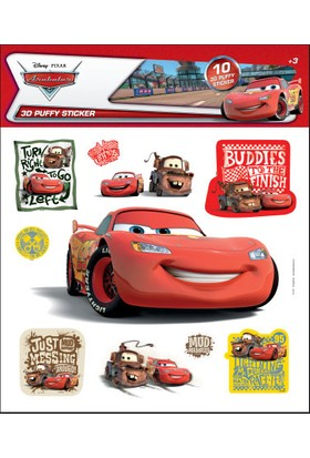Cars 3D Puffy Sticker