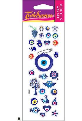 Nazar Boncuk-3 Epoxy Sticker 6,5X17 Cm