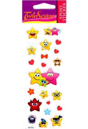 Yıldızlar Epoxy Sticker 6,5X17 Cm
