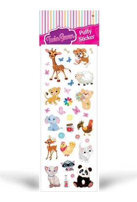 Sevimli Hayvanlar Epoxy Sticker 6,5X17 Cm