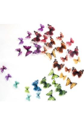 Artikel 3D Kelebekler 35 Adet