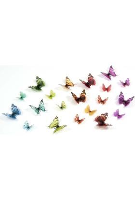Artikel 3D Kelebekler 20 Adet
