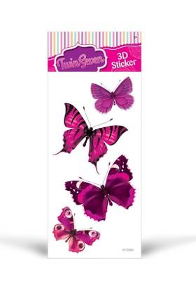 Artikel Pembe Kelebekler 14x28 cm Sticker