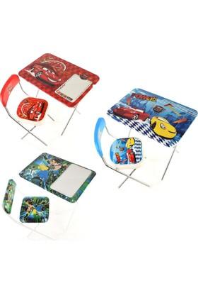 Can-Em Oyuncak Bayb Denis Erkek Çocuk Masa Sandalye Takımı