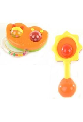 Can-Em Oyuncak Poşette Renkli Tekli Çıngırak(3B)