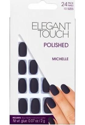 Elegant Touch Polıshed Naıls-Mıchelle Mat Siyah