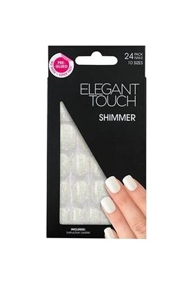 Elegant Touch Polıshed Naıls-Simli Beyaz