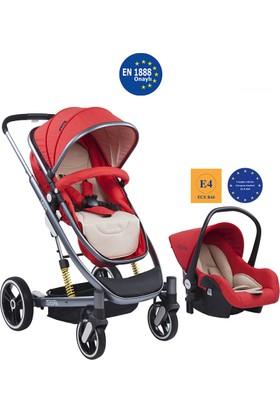 Kraft Leon Travel Bebek Arabası - Kırmızı