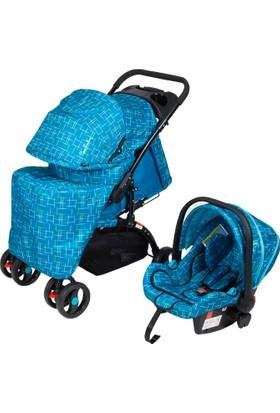 Pierre Cardin PC409 Aloin Travel Bebek Arabası Kırçıllı Mavi