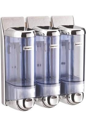 Arı Metal Sıvı Sabun Ve Şampuan Verici Krom 3 Lü 0.250 Ml