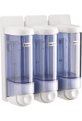 Arı Metal Sıvı Sabun Ve Şampuan Verici Şeffaf 0.250 Ml 3 Lü