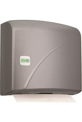 Vialli Z Katlı Kağıt Havlu Dispenseri Aparatı Gri 200'Lü K1M