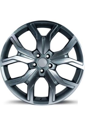 """EMR 1266 20"""" Range Rover Evoque Uyumlu 9.5 Offset 5x108 ET 45 Dark Grey Polished Jant"""