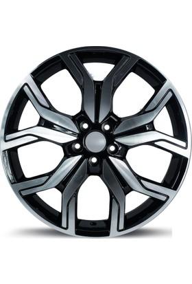 """EMR 1266 20"""" Range Rover Evoque Uyumlu 9.5 Offset 5x108 ET 45 Black Polished Jant"""