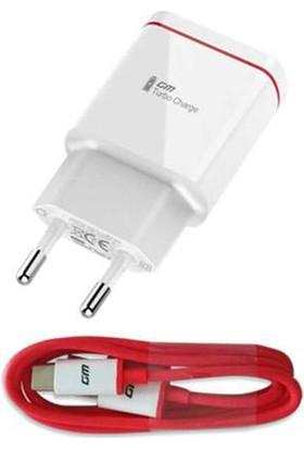 General Mobile Gm5 Plus USB Type-C Şarj/Data Kablo + Şarj Cihazı (İthalatçı Garantili)