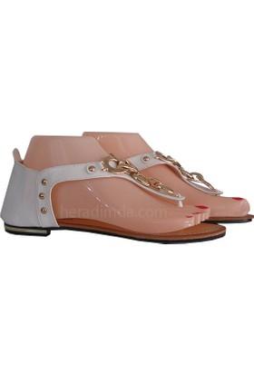 Twigy Beyaz Kadın Sandalet