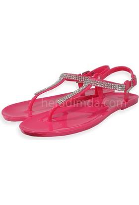 Ahs Taşlı Şık Ve Rahat Jelly Sandalet