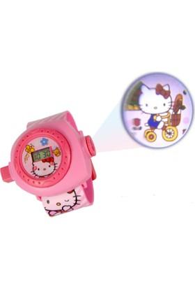 Hello Kitty Projektör Projector Çocuk Kol Saati -24 Farklı Görüntü