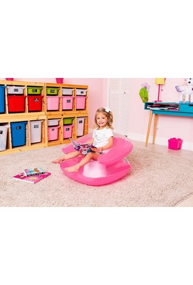 Bestway Şeffaf Renkli şişme Çocuk Koltuğu Pembe 75006