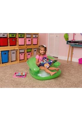 Bestway Şeffaf Renkli şişme Çocuk Koltuğu Yeşil 75006
