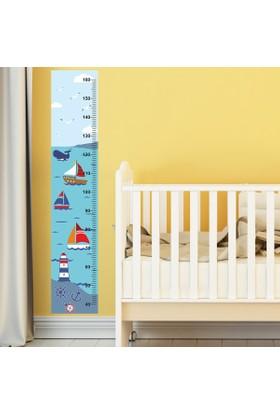 DekorLoft Mavi Deniz Boy Ölçer Sticker DBC23
