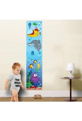 DekorLoft Mavi Okyanus Boy Ölçer Sticker DBC13
