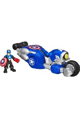 Marvel Süper Hero Adventures Captain America Shield Bike Araç Seti