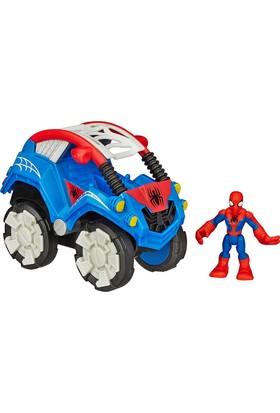 Marvel Süper Hero Adventures Spiderman Stunt Buggy Araç Seti